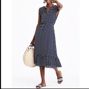 J.Crew Mercantile Navy Dragonfly Print Midi Dress